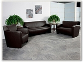 Flash Furniture Majesty Reception Series in Brown