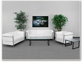 Flash Furniture Regal Reception Series in White