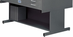 20'' H Steel Flat File High Base for 4998 - Black [4979BL-FS-SAF]