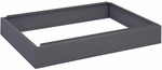 6'' H Steel Flat File Low Base for 4998 Series - Black [4999BLR-FS-SAF]