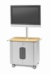 Flat Panel Designer Cabinet Cart for 30'' to 52'' Monitors [FPPC72V200-BRET]