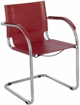 Flaunt™ 21.5'' W x 23'' D x 31.75'' H Leather Guest Chair - Red [3457RD-FS-SAF]