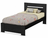 Flexible Collection Twin Bed Set (39'') Black Oak