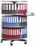 Moll 3 -Tier Rotary Floor Stand Binder Carousel - Graphite [CL3-80-FS-EOS]