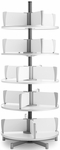 Moll 5 -Tier Rotary Floor Stand Binder Carousel - White [CL5-80-FS-EOS]