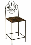 Florentine 30'' Wrought Iron Barstool with Upholstered Seat [GMC-FL-30-FS-GCM]