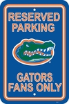 Florida Gators 12'' X 18'' Plastic Parking Sign [50218-FS-BSI]