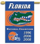 Florida Gators Champ Years 2-Sided 28'' X 40'' Banner with Pole Sleeve [96309-FS-BSI]
