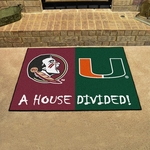 Florida State-Miami House Divided Mat 34'' x 45'' [7115-FS-FAN]