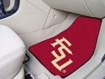 Florida State University Carpet Car Mat 2 Pc 18'' x 27'' [5081-FS-FAN]