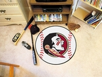 Florida State University Baseball Mat 27'' Diameter - Mascot Design [4312-FS-FAN]
