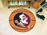 Florida State University Basketball Mat - Mascot Design [4317-FS-FAN]