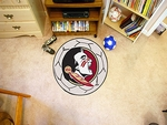 Florida State University Soccer Ball Mat 27'' Diameter - Mascot Design [4320-FS-FAN]