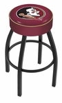 Florida State University 25'' Black Wrinkle Finish Swivel Backless Counter Height Stool with 4'' Thick Seat [L8B125FSU-HD-FS-HOB]