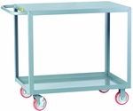 Welded Service Cart With 1 Flush Shelf and 1 Lipped Shelf - 18''W x 32''D [LG-1832-BRK-LGC]