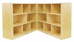 Birch 36''H Mobile Fold and Lock Cabinet with Sixteen 12'' Deep Compartments - Natural Finish [ELR-0424-ECR]