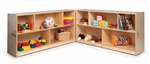 Fold and Roll Birch Laminate Storage Cabinet [WB0352-FS-WBR]
