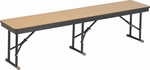 High Pressure Laminate Top Folding Cafeteria Bench with Particleboard Core and Rounded Frame Corners - 15''W x 60''D x 17''H [B155D-AMTB]