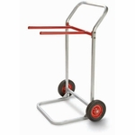 Steel Frame Folding Chair Dolly with 8'' Rubber Wheels - 28''W x 22.5''D [750-RPC]