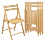 Folding Chairs-Set of 4 [89430-FS-WWT]