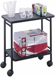 26'' W x 15'' D x 30'' H Mobile Steel Folding Office Cart with Bottom Shelf - Black [8965BL-FS-SAF]