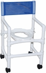 Folding Shower Chair with 3'' Rust Proof Threaded Stem Casters - 22''W X 20''D X 39''H [118-3TW-FD-MJM]