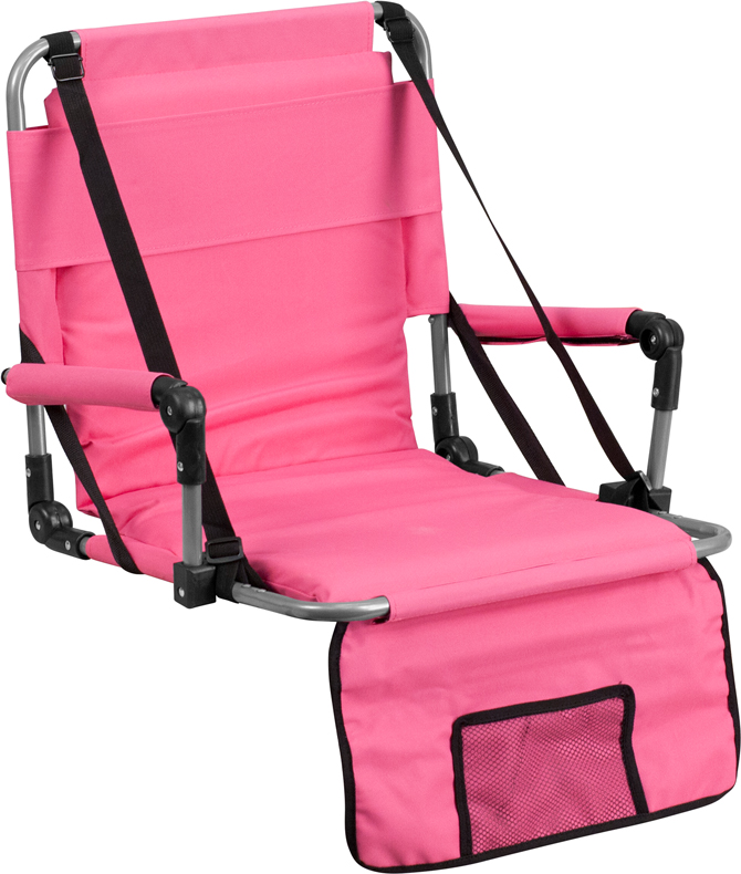Folding Stadium Chair In Pink TY2710 PK GG By Flash Furniture