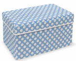 Folding Storage Seat - Blue Polka Dot