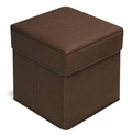 Folding Storage Seat - Brown