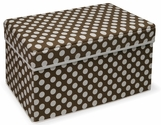 Folding Storage Seat - Brown Polka Dot