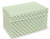 Folding Storage Seat - Sage Polka Dot