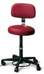 Foot Controlled Air-Lift Stool with Backrest - 20 - 27''H [HAU-2143-FS-HAUS]