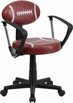 Football Task Chair with Arms [BT-6181-FOOT-A-GG]
