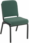 1000 Series Stacking Steel Frame Armless Hospitality Chair with 2'' Upholstered Seat [FR1020-IFK]