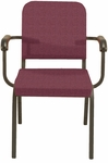 1000 Series Stacking Steel Frame Hospitality Armchair with 2'' Upholstered Seat [FR1021-SB-IFK]
