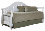Fraser Simple Wood Link Spring Daybed with Front Panel and Roll Out Trundle - Frost [B51149-FS-FBG]