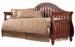 Fraser Simple Wood Daybed with Link Spring and Pop-Up Trundle - Walnut [B50119-FS-FBG]