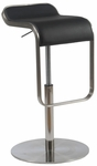 Freddy Adjustable Bar/Counter Stool in Black [04387BLK-FS-ERS]