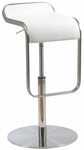 Freddy Adjustable Bar/Counter Stool in White [04387WHT-FS-ERS]