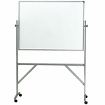 Aluminum Frame Double Sided Whiteboard with Corkboard - 3'H x 4'W [ARKK34-GHE]