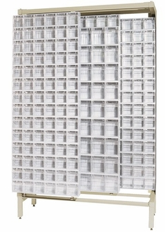 Free Standing Slider System With 52 Bins Ivory Qs