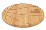 Free Throw Cutting Board - University of Illinois Engraved [840-00-505-213-0-FS-PNT]