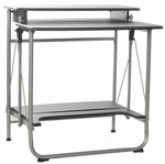 30''L x 41.7''W Freeley Folding Computer Desk - Black and Gray [50-1010QA-FS-COM]