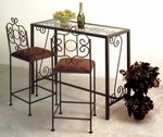 French Traditional Bar with Glass Insert [BAR4919-F-FS-GCM]
