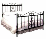French Traditional Wrought Iron Bed with Frame - Full [GMC-IB4-FU-FS-GCM]