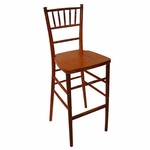 Fruitwood Finish Beechwood European Chiavari Bar Stool - 16.5''W X 16''D X 45.5''H [BBSFRU-AS]