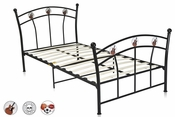 Full Black Complete Youth Metal Bed