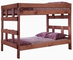 Full Over Full Bunk Bed - Mahogany Stain [312007-FS-CHEL]