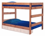 Full Over Full One Piece Bunk Bed - Mahogany Stain [312010-411-FS-CHEL]