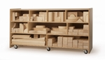 Set of 680 Full Unit Hardwood Blocks with Smooth Rounded Edges [WB0370-FS-WBR]